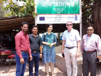 SIDA visits to Village Court in Satkhira