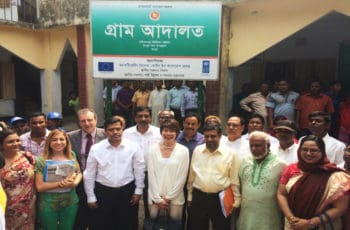 Rangpur field visit by Honorable Secretary, LGD and representatives of European Union