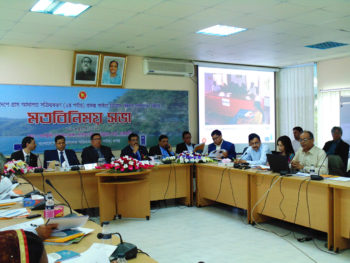 Participants, of a consultation meeting on possible expansion of AVCB II project in Chittagong Hill Tracts, share their opinions and recommendations